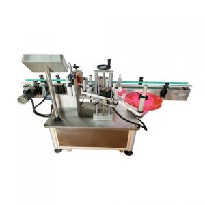 Round Box Top Labeling Machine