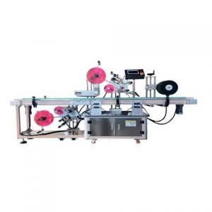 Top Bottom Label Pasting Labeling Machine