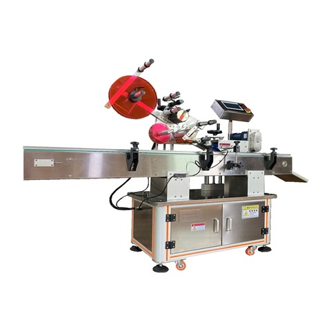 Auto self adhesive labeling machine with feeder horizontal labeler for...