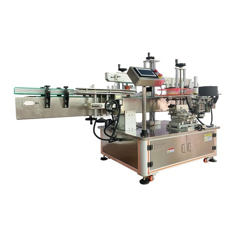 paste labeling machine for round glass bottle wet glue labeler...