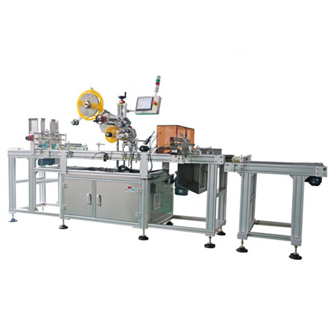 Automatic double sides labeling machine for Laundry detergent...