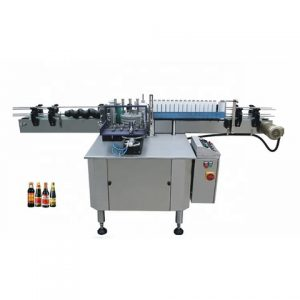 Top Side Automatic Container Labeling Machine
