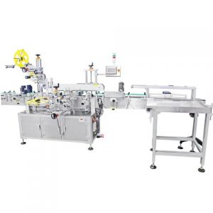 Two Side Adhesive Labeling Machine Via