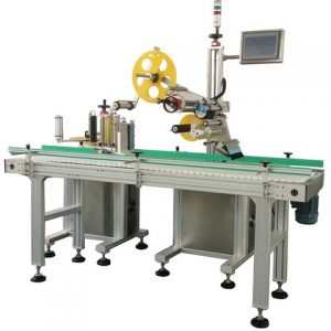Adhesive Sticker Applying Cosmetic Top And Bottom Labeler