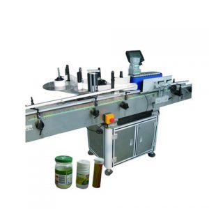 Round Coffee Cans Bottle Wrap Sticker Labeling Machine