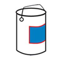 Jednostranný štítkovací kbelík